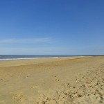 Bacton beach in April