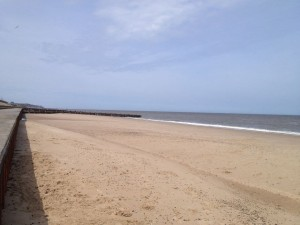Bacton beach and miles of sand