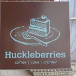 Huckleberries sign