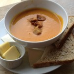 Delicious homemade soup and bread