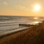 Bacton Beach at Sunset