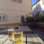 Cider in the evening sun