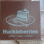 Huckleberries sign