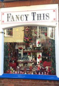 Fancy This Christmas window
